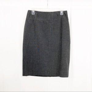 Apt 9 Knee Length Midi Skirt, Size 8, Gray
